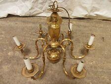 Dutch style six sconce Brass hanging chandelier (ref 136)