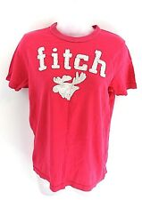 ABERCROMBIE & FITCH Womens T Shirt Top L Large Pink Cotton