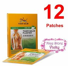 12 x BIG SIZE TIGER BALM PATCH PLASTER COOL COLD MEDICATED PAIN RELIEF