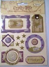 15 Crafty Bitz Epoxy Angel Stars Sticker Embelishments Card Making Scrapbooking