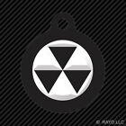 Fallout Shelter Symbol Keychain Round with Tab engraved many colors Radiation