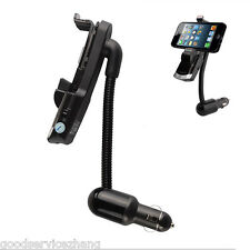 Bluetooth Handsfree FM Transmitter Car Charger MP3 phone Mount Holder For iphone