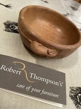 More details for robert mouseman thompson hand carved oak nut bowl 15cm immaculate condition