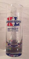 "Official NFL Super Bowl XL 4"" Shooter Glass, Licensed Item, Detroit Michigan New"