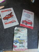 2 Sacs papier Ancienne MAJORETTE & 1 Sac Norev Miniatures 1/86e