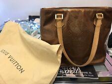 Genuine Louis Vuitton Bronce Uñas Bolsa De Houston
