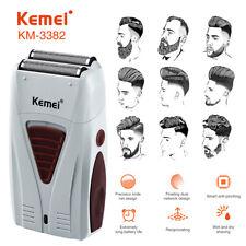 Hombre Afeitadora Eléctrica de Afeitar Barba Recortadora Pelo máquina de afeitar nos Usb Recargable