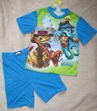 SKYLANDERS *Swap Force* Grn 2-side S/S Tee Shirt Pajamas Pjs Boys sz 7/8