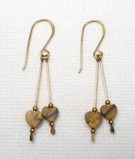 Heart Drop Earrings Gold Lyns Jewelry Picture Jasper
