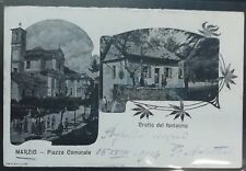 1900 - Marzio - Piazza Comunale e Crotto del fontanino