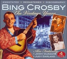 Bing Crosby~The Vintage Years~Also Jimmy Durante & July Garland~NEW 4 CD BOX SET