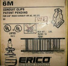 """QUANTITY 59: ERICO CADDY 6M CUNDUIT CLIPS FOR 3/8"""" RIGID COUNDUIT AC MC OR BX"""