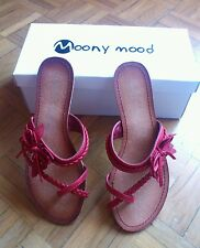 Zapatos Moony Mood talla 37 shoes NF5060 Rouge