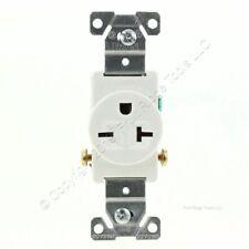 Eaton White Commercial Single Outlet Wall Receptacle Nema 6-20R 250V 20A 1876W