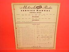 1942-1951 GM MOTOROLA RADIO CONTROL HEADS/SPEAKERS/ANTENNAS PARTS SERVICE MANUAL