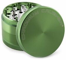 Cigarettes Tobacco Spice Herb Grinder Blades Catch Tray Pot Mill Handle Green 84