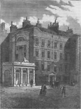 PALL MALL. Messrs. Christie and Manson's original auction rooms. London c1880