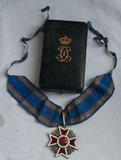 Romanian order of the crown Carol Civil Officer silver medal Ww1 commander 1881