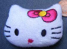 Échelle 1:12 fait à la main Blanc Kitty Cat Face coussin Maison de Poupées Accessoire