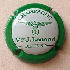 Capsule de Champagne LANAUD J. 20e. Bleu et blanc