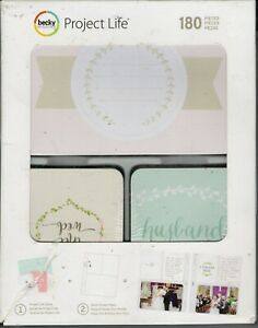 Project Life SOUTHERN WEDDING Kit~Cute Cards!~180 pieces~Fast Ship! Really Nice!