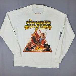 Stryper 1986 To Hell With The Devil Mens Vintage Cotton White T Shirt Medium