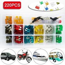 220Pcs/Set Car Fuse Auto Insert  Car Truck Safety Pipe Lamp Fuse Safety Pipe Hot
