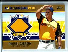 2016 Topps Update Gold All-Star Stiches Miguel Cabrera D # 42/50 Detroit Tigers