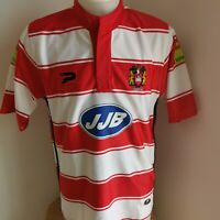superbe maillot de rugby  Wigan warriors marque Patrick taille L angleterre