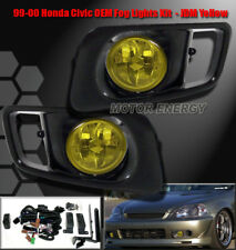 99 00 HONDA CIVIC EX GX HX LX SI JDM BUMPER DRIVING YELLOW FOG LIGHTS+OEM SWITCH