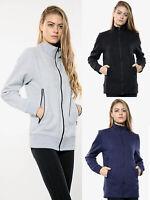 Womens Ladies Winter Hoodie Bomber Jacket Zip Up Biker Coat Tops Short Outwear