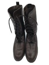 Vintage Brown Leather Enzo Angiolini Lace Up Women's Boots Size 7