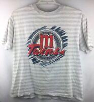 VTG 1991 World Series Champs Minnesota Twins Short Sleeve T-Shirt Size XL USA