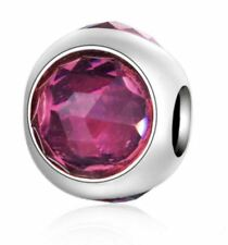 February Purple Birthstone European Bead fits Bracelet & Chain NEW!
