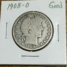 1908-O Good 50C Barber Half Dollar