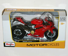Maisto - DUCATI 1199 PANIGALE 2012 (Red) - Motorcycle Model Scale 1:12