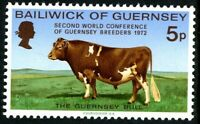 GUERNSEY 1972  GUERNSEY COW BREEDERS COMMEMORATIVE STAMP MNH (p)