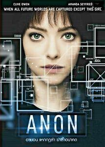 Anon (2018) DVD PAL COLOR - Clive Owen, Afiya Bennett, Hacker Sci-fi Thriller