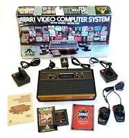 Atari 2600 Launch Edition Woodgrain Console (NTSC), w/Box, New Controller/Tested