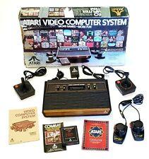 Atari 2600 Launch Edition Woodgrain Console (NTSC), w/Box, New Controller/Tested