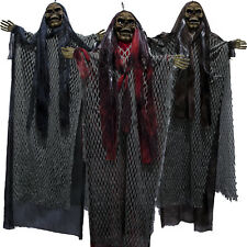 Halloween Horror Party Laughing Spinning Glowing Eyes Hanging Witch Decoration