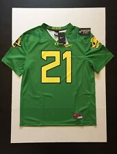 Nike Oregon Ducks Fighting Duck & Puddles Football Legend Jersey #21 Size L