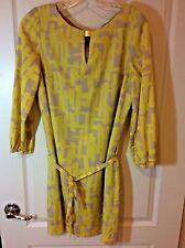 Tahari Printed Belted 3/4 Sleeve Shift Dress, Size 4