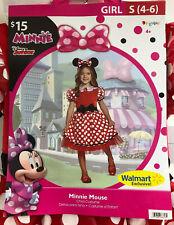 Halloween Dress Up Disney Minnie Mouse Child Costume Girls Small 4-6 Gy