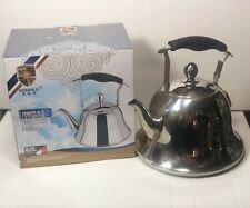 6L Stainless Steel Kettle Kitchen/Home Camping Gas Hob Silver