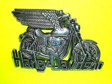 HARLEY DAVIDSON 80TH ANNIVERSARY BELT BUCKLE VTG MOTORCYCLE BRASS BARON '83 RARE