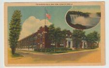 Unused Postcard The Niagara Falls New York Home of Spirella NY