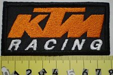 KTM RACING PATCH TOPPA ricamata 8 cm X 4 cm