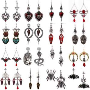Gothpunk Silver spider Vampire bat Masquerade earring carnival jewelry 70+style