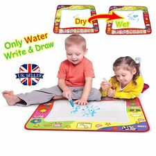 Kids Aqua Doodle Drawing Mat Toy Water Writing Painting Board 2 Magic Pens